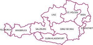 Karte Diözesen